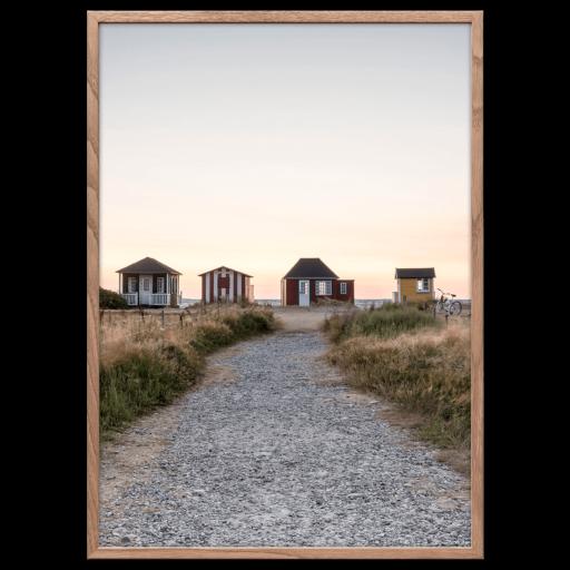 Danmark plakat Ærø Strandhuse Foto Factory