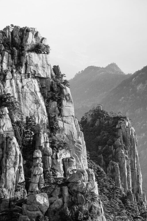 Fotokunst af Bjerge i Kina