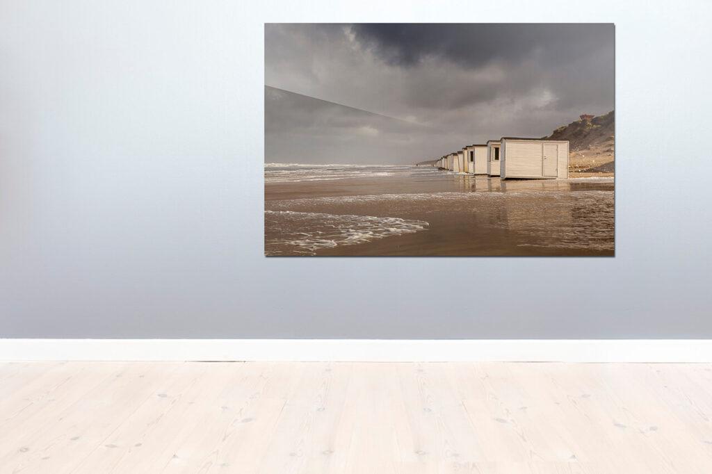 Fotokunst af strandhuse